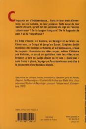 Voyage en postcolonie - 4ème de couverture - Format classique