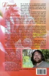 L'évangile de Marie-Madeleine - 4ème de couverture - Format classique