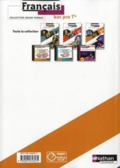 Francais ; terminale bac pro ; cahier spécial élève (édition 2011) - 4ème de couverture - Format classique