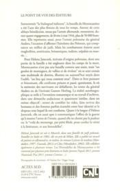 Les hirondelles de Montecassino - 4ème de couverture - Format classique