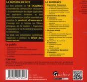 L'essentiel du droit des assurances - 4ème de couverture - Format classique