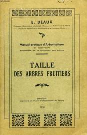 Taille Des Arbres Fruitiers - Couverture - Format classique