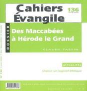 Des Maccabees A Herode Le Grand 175/4 - Couverture - Format classique
