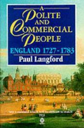A Polite And Commercial People - Couverture - Format classique