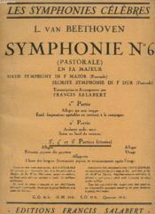 SYMPHONIE N°6 ( PASTORALE ) EN FA MAJEUR. 3e - 4e ET 5e PARTIES REUNIES. - Couverture - Format classique