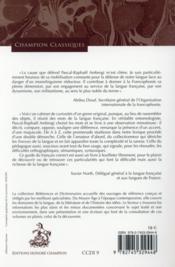 Dictionnaire du bon usage au service du sens et de la nuance - 4ème de couverture - Format classique