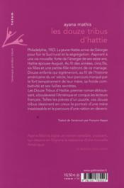 Les douze tribus d'Hattie - 4ème de couverture - Format classique