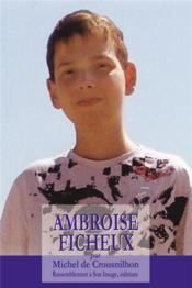 Ambroise Ficheux - Couverture - Format classique