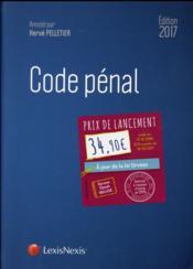Code pénal (édition 2017) - Couverture - Format classique