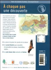 BALADES NATURE ; dans le Parc naturel régional du Verdon (édition 2018) - 4ème de couverture - Format classique