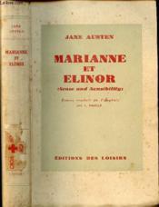 Marianne Et Elinor ( Sense And Sensibility) - Couverture - Format classique