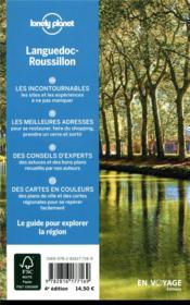 Explorer la région ; Languedoc-Roussillon (4e édition) - 4ème de couverture - Format classique