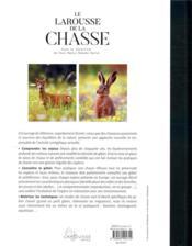 Le Larousse de la chasse ; plus de 400 illustrations en couleurs - 4ème de couverture - Format classique