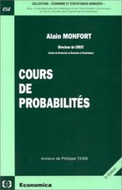 Cours De Probabilite - Couverture - Format classique