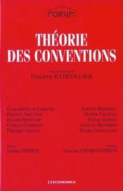 Theorie Des Conventions ; Edition 2001 - Intérieur - Format classique