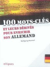 100 mots-clés et leurs dérivés pour enrichir son allemand - Intérieur - Format classique