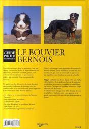 Le bouvier bernois - 4ème de couverture - Format classique