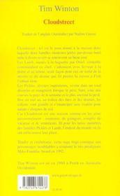 Cloudstreet - 4ème de couverture - Format classique