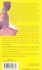 Alix Karol t.5 ; un chacal, des chacaux - 4ème de couverture - Format classique