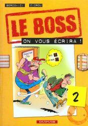 Le Boss T.2 ; On Vous Ecrira - Intérieur - Format classique