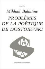 Problèmes de la poétique de Dostoïevski - Couverture - Format classique