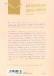 Recits de voyage et romans voyageurs - 4ème de couverture - Format classique