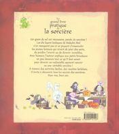 Le grand livre pratique de la sorcière - 4ème de couverture - Format classique