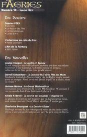Faeries 16 special fees t16 - 4ème de couverture - Format classique