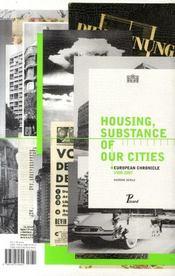 Logement, matière de nos villes - 4ème de couverture - Format classique
