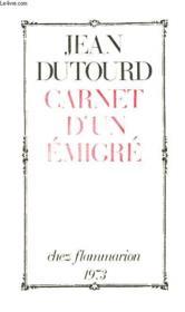 Carnet D'Un Emigre - Couverture - Format classique