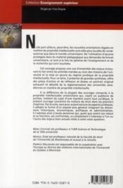 Propriete intellectuelle et université ; entre la libre circulation des idées et la privatisation des savoirs - 4ème de couverture - Format classique