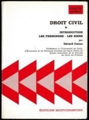 DROIT CIVIL, t. I: INTRODUCTION - LES PERSONNES - LES BIENS, coll. Précis Domat - Couverture - Format classique