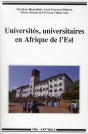 Universites, universitaires en afrique de l'est - Couverture - Format classique