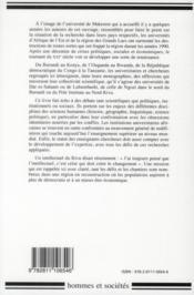 Universites, universitaires en afrique de l'est - 4ème de couverture - Format classique