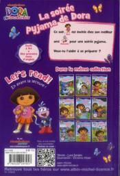 La soirée pyjama de Dora - 4ème de couverture - Format classique