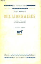 Millionnaires. Collection : Les Documents Bleus. Premiere Serie : N° 49 - Couverture - Format classique