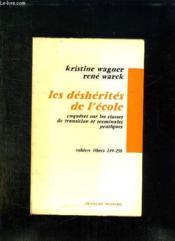 Les Desherites De L Ecole. Deux Enquetes Sur Les Classes De Transition Et Les Terminales Pratiques. - Couverture - Format classique