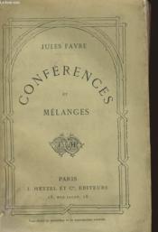 Conferences Et Malanges - Couverture - Format classique
