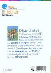 Fifi princesse - 4ème de couverture - Format classique