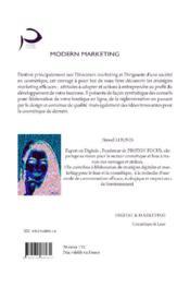 Modern marketing - 4ème de couverture - Format classique