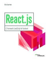 React js ; le framework javascript de Facebook - Couverture - Format classique
