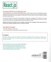 React js ; le framework javascript de Facebook - 4ème de couverture - Format classique