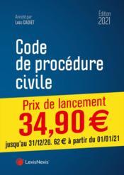 Code de procédure civile (édition 2021) - Couverture - Format classique