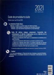 Code de procédure civile (édition 2021) - 4ème de couverture - Format classique