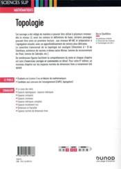 Topologie (6e édition) - 4ème de couverture - Format classique
