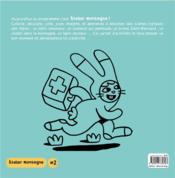 Atelier montagne n.2 ; 50 pages de dessins, coloriages, jeux et autocollants - 4ème de couverture - Format classique