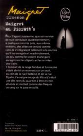 Maigret au Picratt's - 4ème de couverture - Format classique