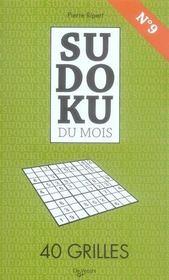 Sudoku du mois de septembre - Intérieur - Format classique