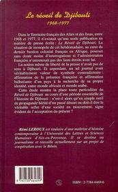 Le Reveil De Djibouti 1968-1977 ; Simple Outil De Propagande Ou Veritable Reflet D'Une Societe? - 4ème de couverture - Format classique