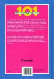 101 Questions Et Reponses; Son Lumiere Energie Et Autres - 4ème de couverture - Format classique